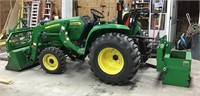 John Deere 3038E and attachments - see photos!
