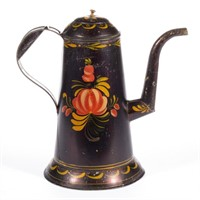 American toleware coffee pot and other country accessories