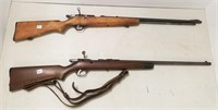 2 bolt action .22 single shot rifles - Marlin Mod
