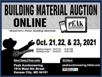 KC October 2021 Peak Building Material Auction
