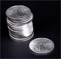 Coin Roll 20 - 2021 Silver Eagle 1 Oz. .999 Fine