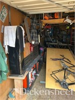 CONTENTS OF 10X20 STORAGE UNIT-Bike Frames, Tools & More!