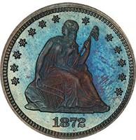 25C 1872 PCGS PR66 CAC