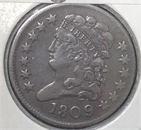 1809 Half Cent  Very Nice