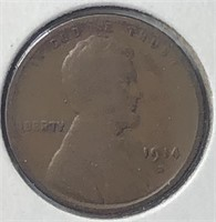 1914-D Lincoln Cent - nice+