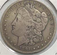1891-CC Morgan Dollar Choice+