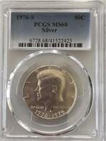 1976-S Kennedy Half Dollar PCGS MS68 Silver