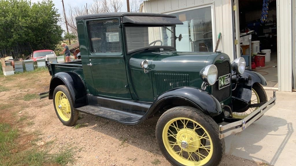 1929 Ford Model A Green Pickup