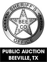 Bee County Sheriff's Office online auction 8/30/2021