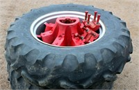 (2) 14.9 - 28 Tractor Pulling Tires for Farmall H, matched set, spoked