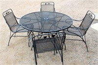Wrought Iron Patio Table & 4-Chairs