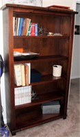 Tall Bookcase, dark wood (does not include contents)