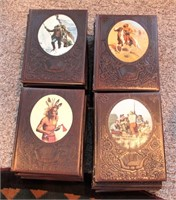 """(26) Time Life """"The Old West"""" Leather Covered Books"""