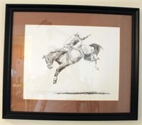 """Framed Dave Price """"Championship Style"""" Picture/Print, 181/300"""