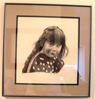 """Framed Cat Deuter Picture/Print, """"Rendezvous Girl 1983"""""""