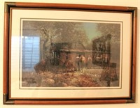 """Framed Robert Summers """"Rendezvous"""" Picture/Print, 208/1500"""