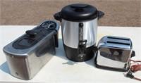 Deep Fat Fryer, 40 Cup Coffee Maker, Vintage Toaster