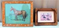 Framed Vintage Horse Pictures