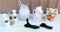 Mini Lamps, Enamel Pitcher, Shoe Lasts, Cream Dispenser, Cookie Jar