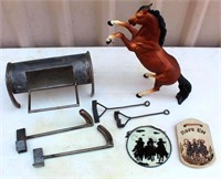 Mini Steak Brander, Wall Deco, Plastic Horse Deco