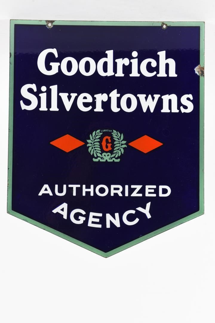 RARE GOODRICH SILVERTOWNS AUTHORIZED DSP SIGN