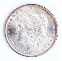 Coin 1891-CC  Morgan Silver Dollar Gem BU