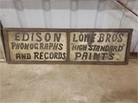Edison Phonographs & Lowe Bros. Sign