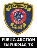 Falfurrias Police Department online auction 8/30/2021