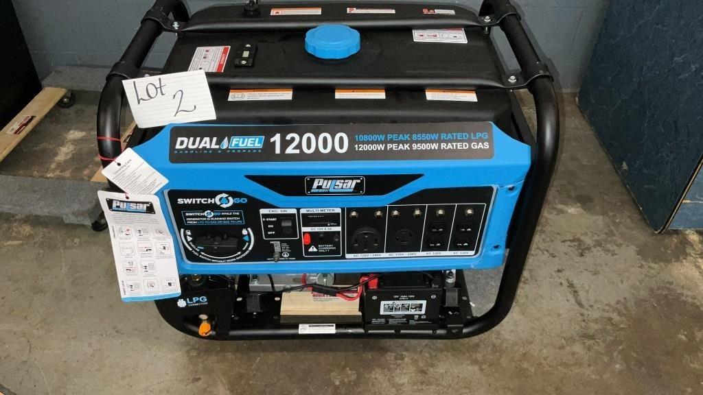 New 12000 watt generator electric start  tested