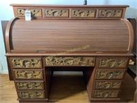 oriental roll top desk