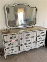 French provencial dresser w mirror