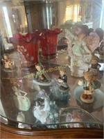 3rd,4th,5th shelves of curio cabinet