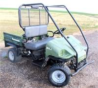 Lot 5004 - Kawasaki Mule, Click catalog tab to view information & more pics of this item.  This item has absentee bidding.