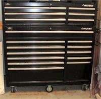 Lot 5010 - Husky Tool Box, Click catalog tab to view information & more pics of this item.  This item has absentee bidding.