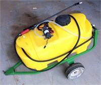 Yard/Garden Sprayer on Whls, 25-gal tank, 12-volt, w/Wand