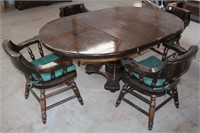 Heavy/Solid Wood Dining Table w/4-Chairs