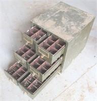 Vintage Metal Hardware Bin