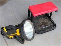 Shop Creeper/Seat, Lg Flashlight