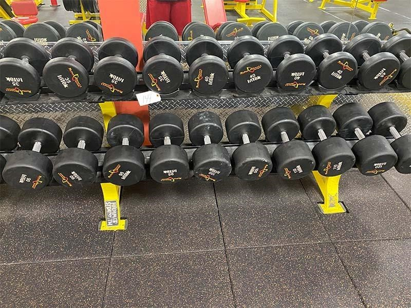 Dumbbell w/ Weight Rack