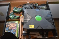 X BOX CONSOLE WITH GAMES AND
