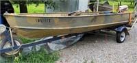 15' Alumacraft Jon Boat…....