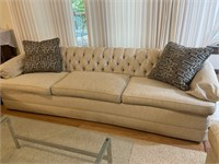 """Upholstered Sofa with Tufted Back 102""""w very nice"""