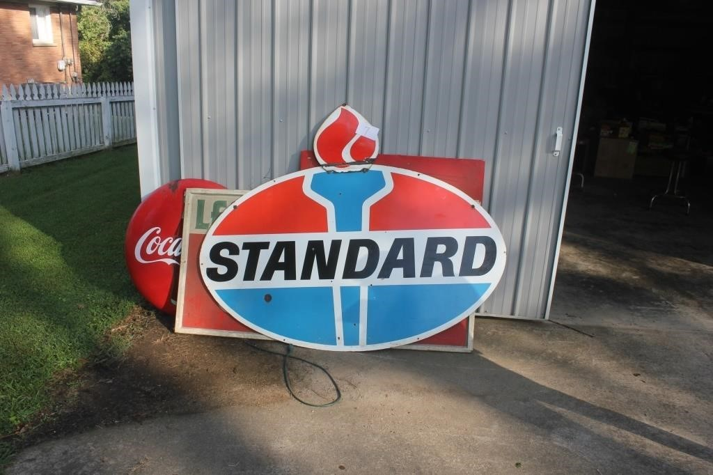 """LARGE STANDARD METAL  SIGN 2 SIDED 6.5'X29"""""""
