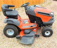 Lot 5004,  Husqvarna Riding Mower - Absentee bidding available on this item.  Click catalog tab for more pics, video & info.