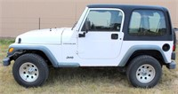 Lot 5006, 2000 Jeep Wrangler - Absentee bidding available on this item.  Click catalog tab for more pics, video & info.