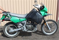 Lot 5008, 1993 Kawasaki KLR Motorcycle - Absentee bidding available on this item.  Click catalog tab for more pics, video & info.