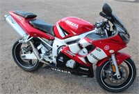 Lot 5012,  2002 Yamaha R6 Motorcycle  - Absentee bidding available on this item.  Click catalog tab for more pics, video & info.