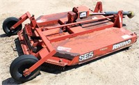 Lot 5015, Rhino SE5 Rotary Mower, pull type, pto  - Absentee bidding available on this item.  Click catalog tab for more pics, video & info.