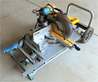 DeWalt Chop/Miter Saw on Portable Cart/Stand