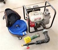 Trash Pump w/Honda Engine, Hose, Etc